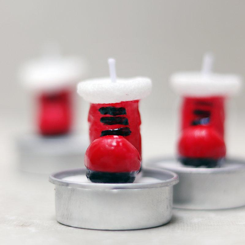 Christmas boot candle set