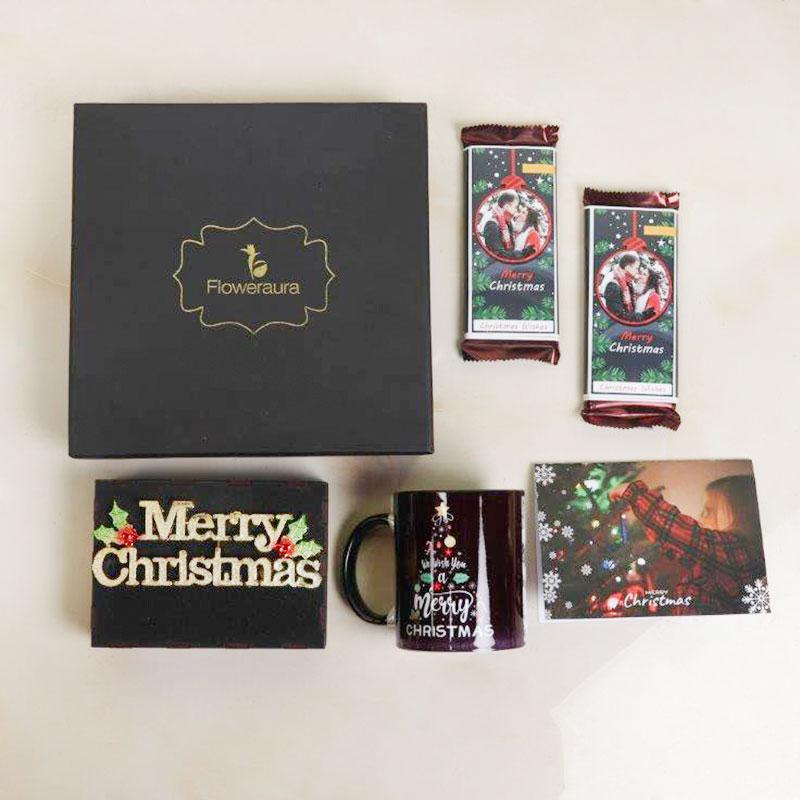 Christmas Chocolates with Mug and Notepad