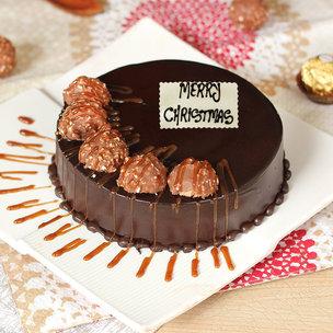 Chocolate Ferrero Rocher Christmas Cake