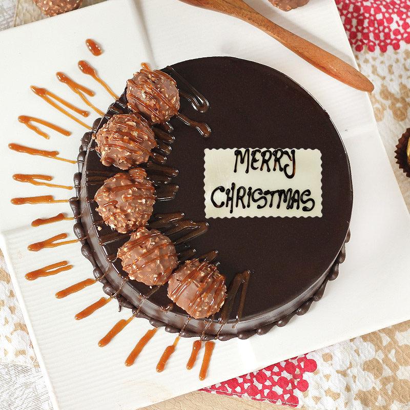 Ferrero Rocher Christmas Cake