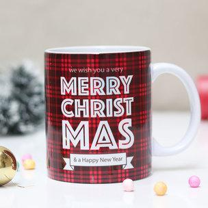 Christmas Check Coffee Mug