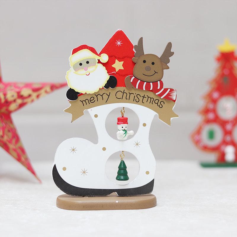 Showpiece of Santa on his way with his reindeers