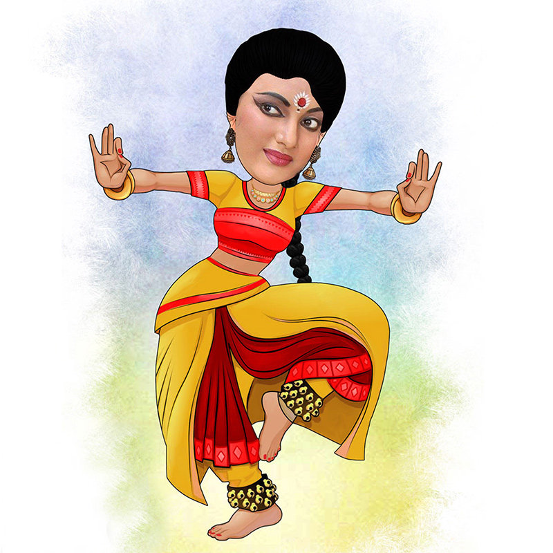 Personalised Caricature For Dance Lover