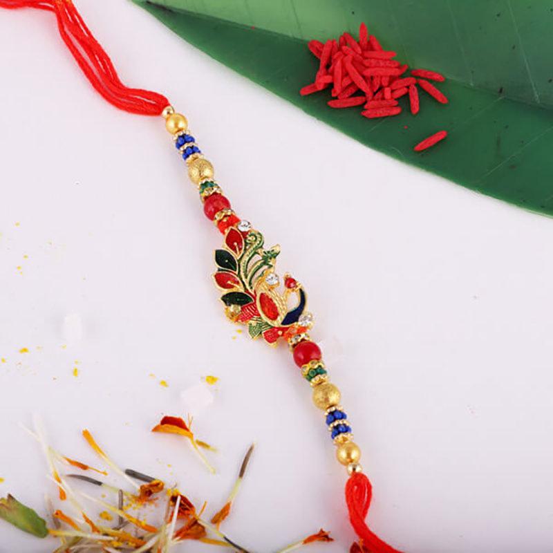Coloured Mor Rakhi