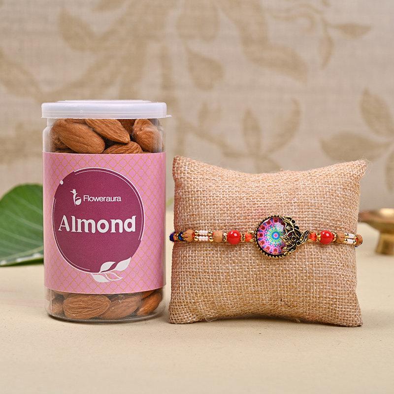 Coloured Rakhis with Almonds