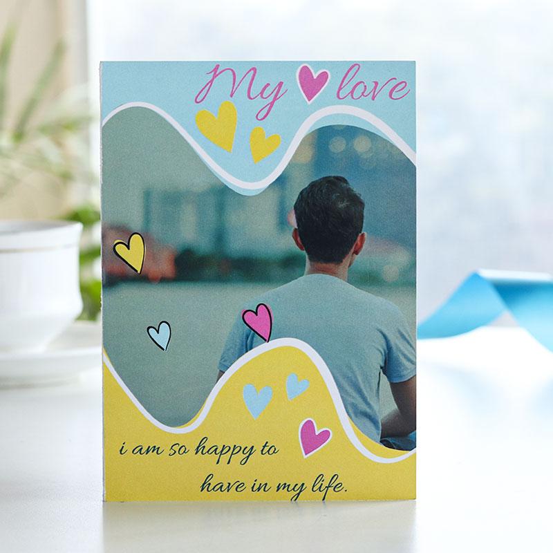 Colourful Hearts Love Card