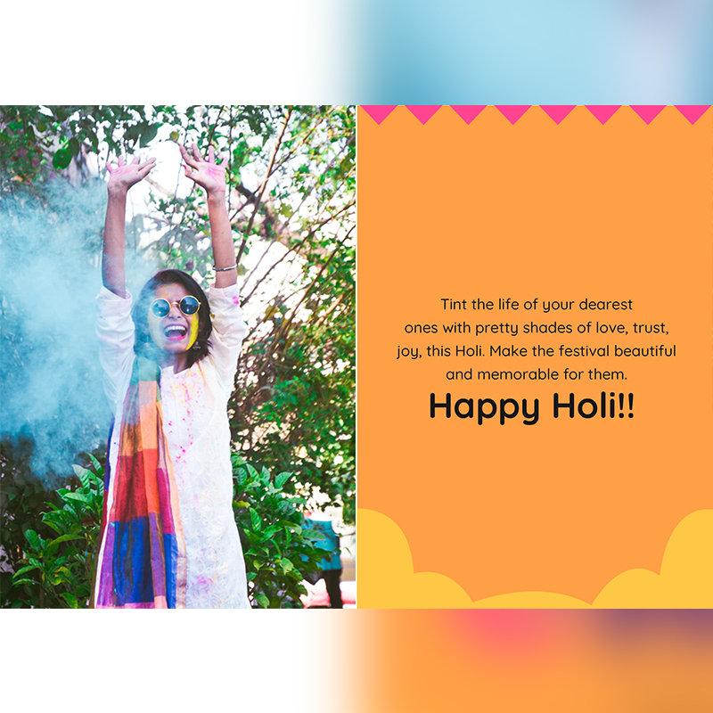 Colourful Holi Card