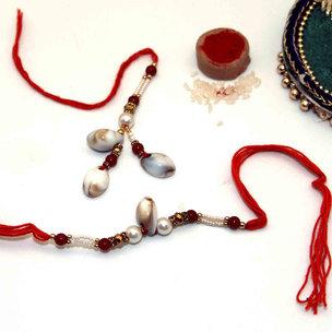 Colourful Rakhi & Lumba Rakhi Combo