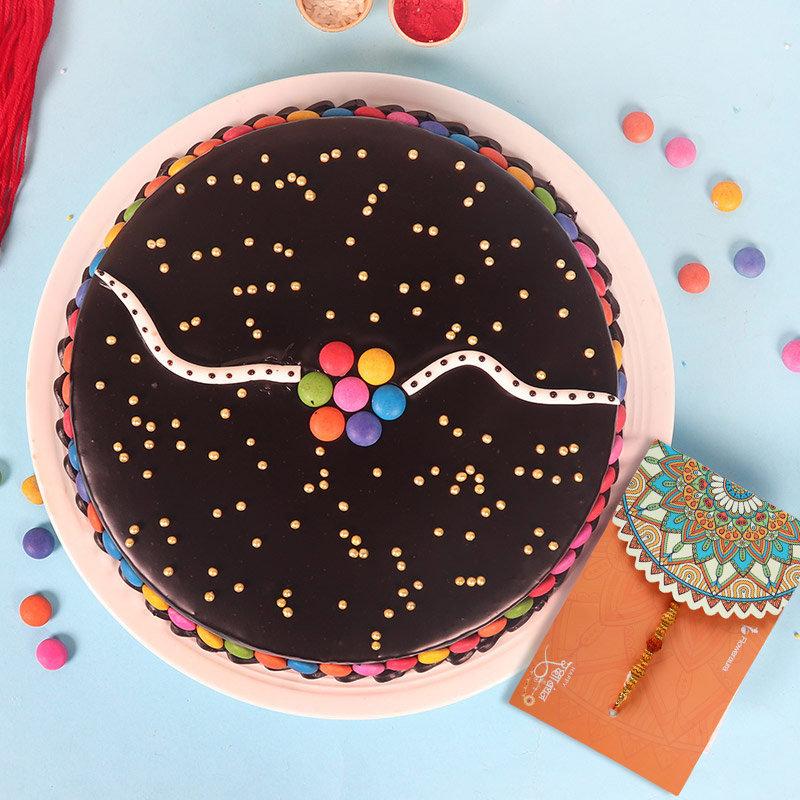 Chocolate Cake with Rakhi