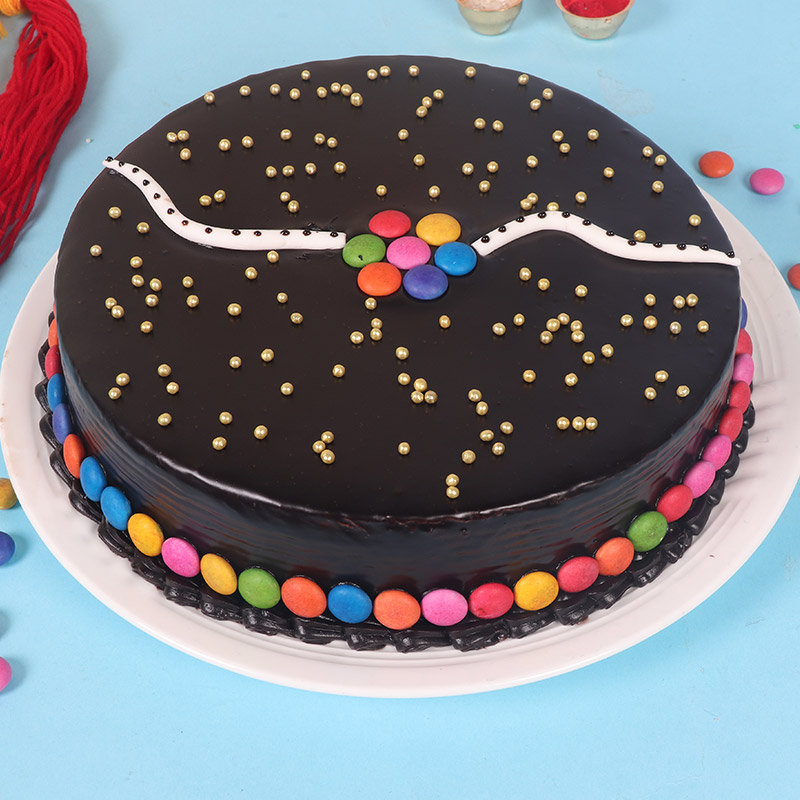 Choco Gems Cake Rakhi Combo