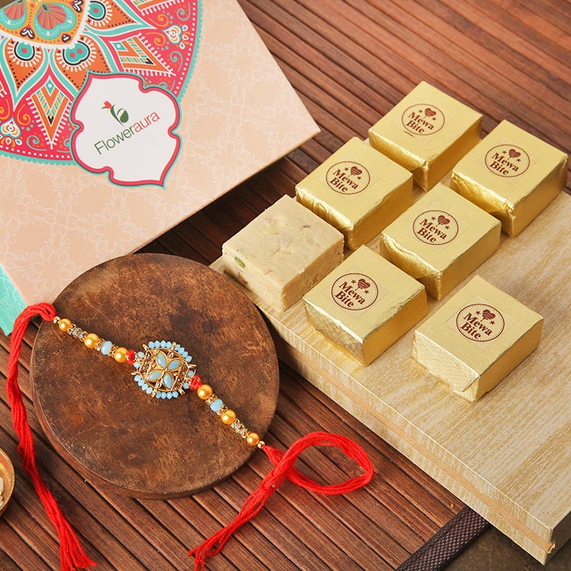 Colourful Rakhi Mewa Bites Box