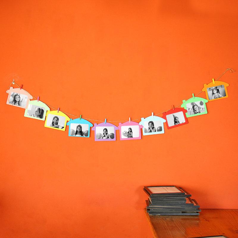Colourful String N Light Photo Frames