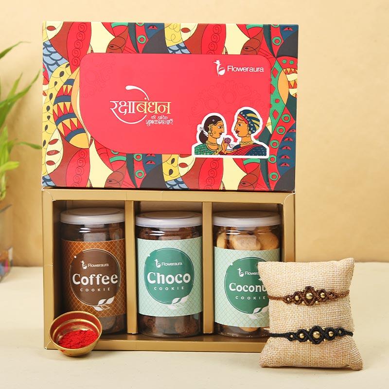 Cookie galore four Rakhis - Set of 2 Designer Rakhi
