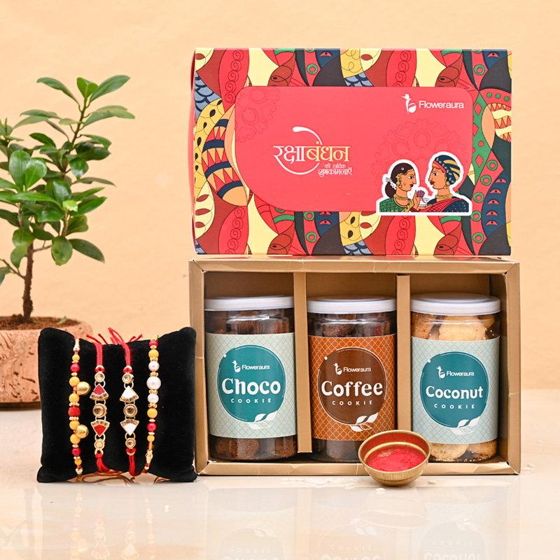 Cookie galore four Rakhis - Set of 4 Designer Rakhi