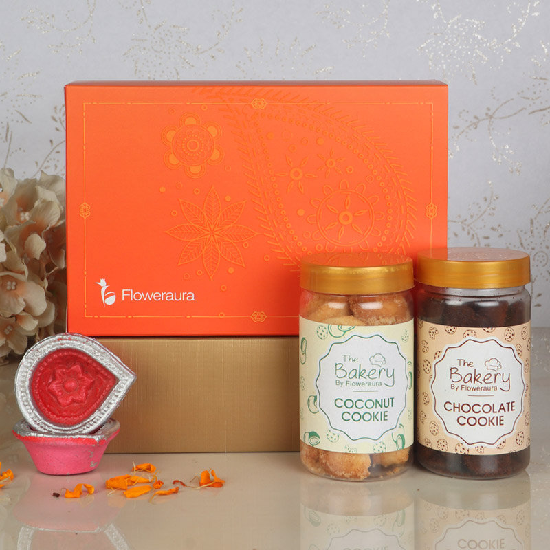 Front View of Cookielicious Diwali Signature Box