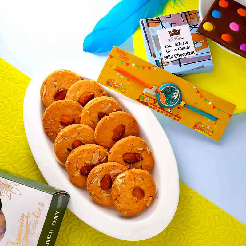 Cookies And Candies Rakhi Set