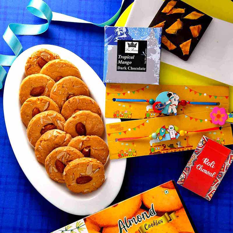 Cookies And Chocolates Rakhi Set