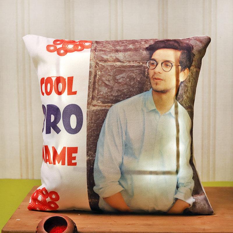 Coolest Bro Rakhi N Cushion