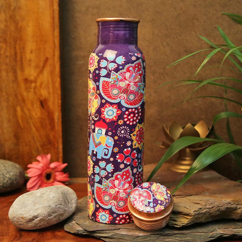 Copper Handmade Design Bottle