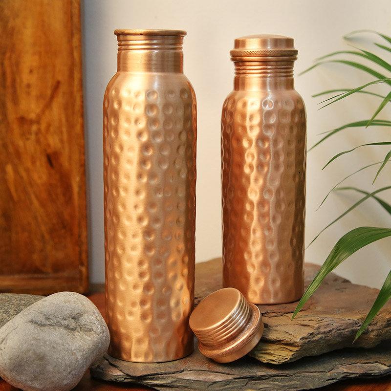Copper Water Bottle Duo