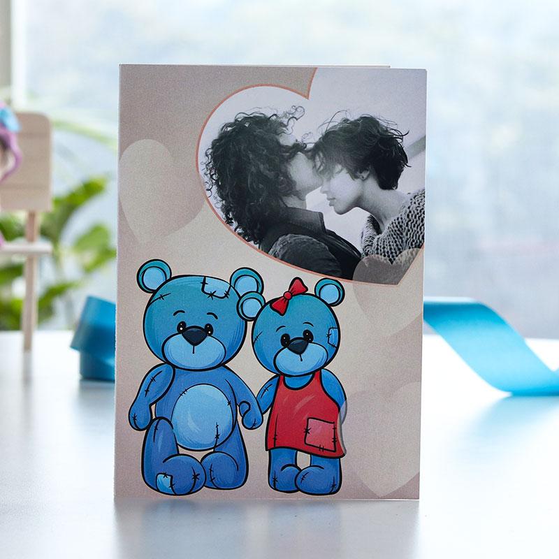 Couple Bear Photo Greeting