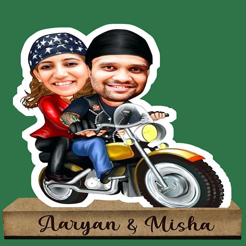 Couple Rider Caricature