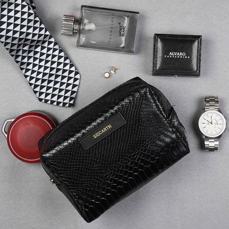 Croco Black Travel Kit
