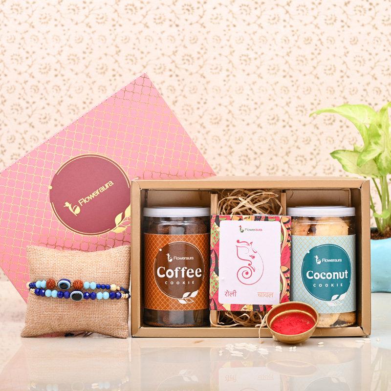 Crunchy Rakhi Signature Box - Set of 2 Designer Rakhi