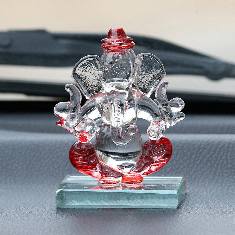 Crystal Car Ganesha Showpiece