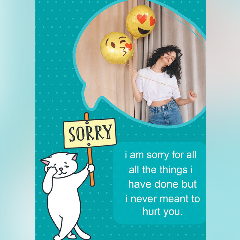 Personalised Apology E Card