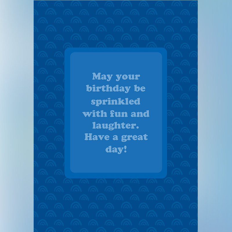 Customised Happy Birthday E Greeting Card with Message