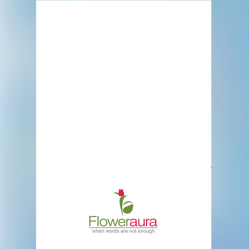 White Blank Note for Customised Birthday E-Cards