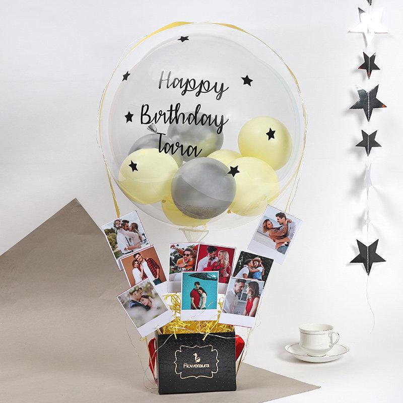 Custom Bday Pics Balloon Bouquet