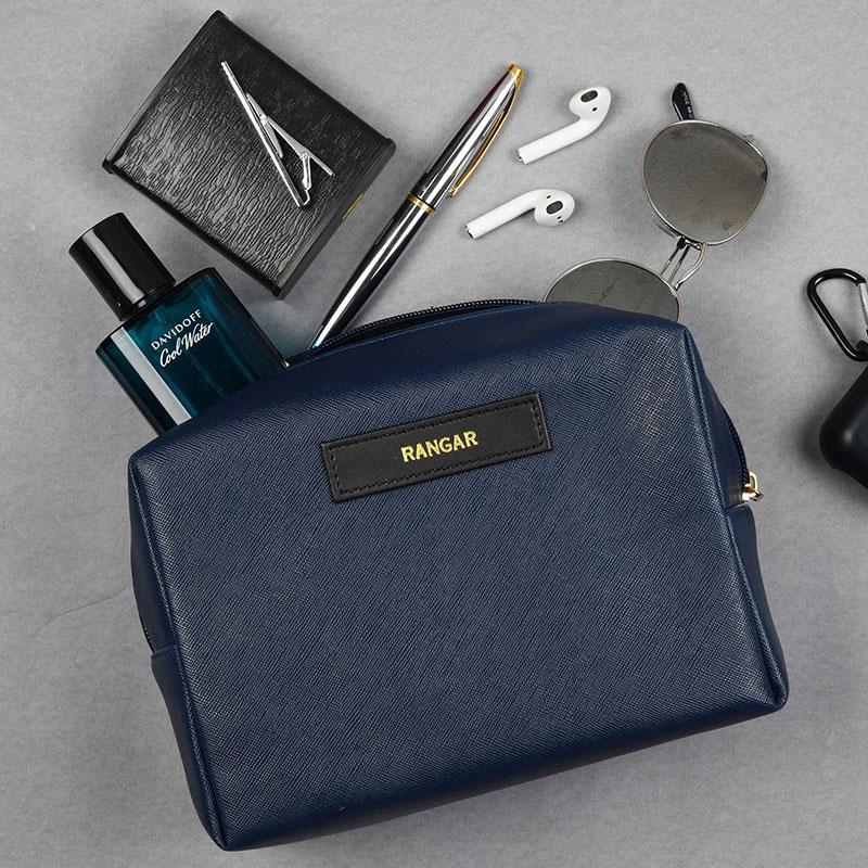 Custom Blue Travel Kit