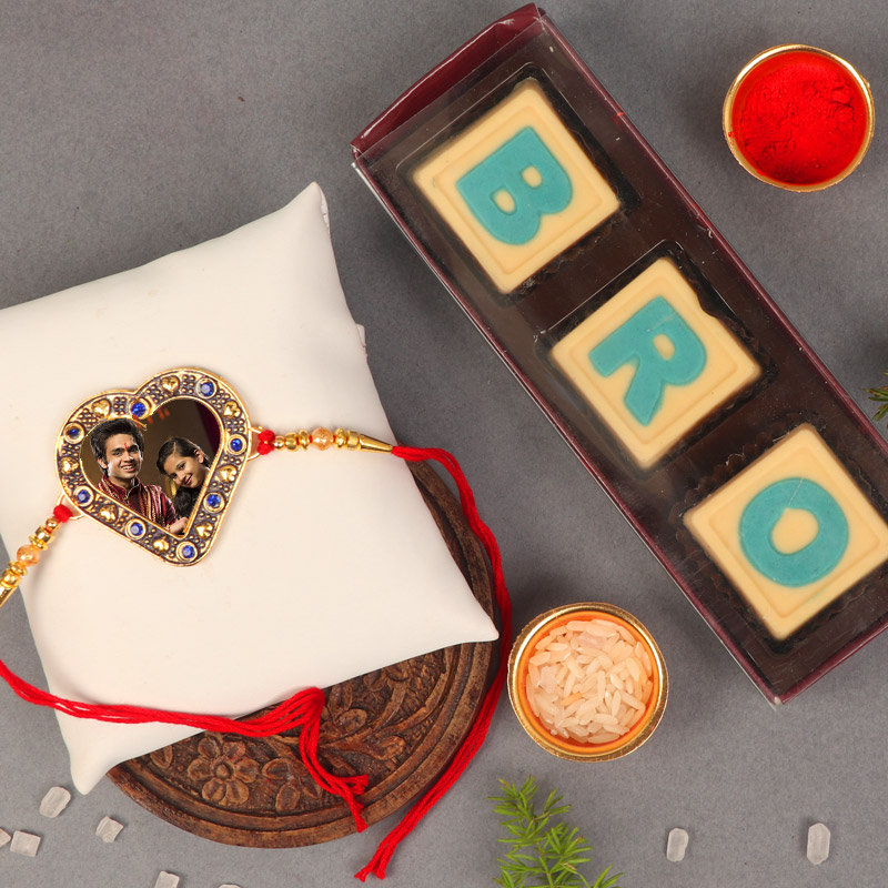 Custom Choco Rakhi Combo