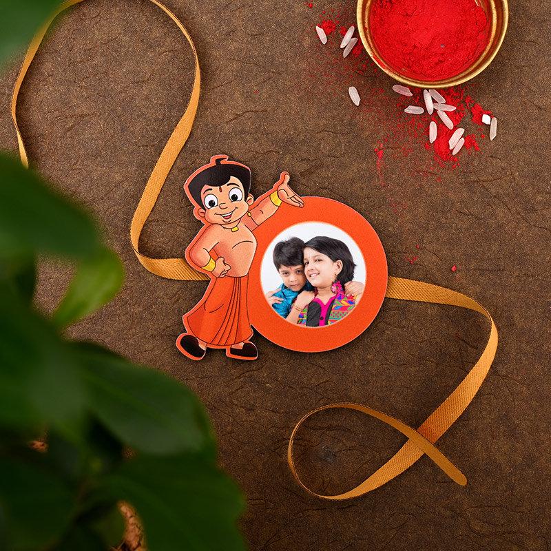 Custom Chota Bheem Rakhi - One Chota Bheem Personalised Rakhi