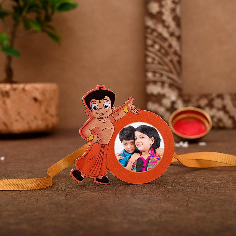 One Chota Bheem Personalised Rakhi - Custom Chota Bheem Rakhi
