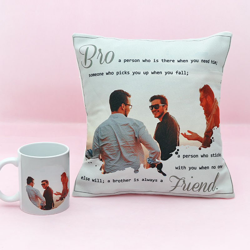 Personalised Mug and Cushion Combo for Brother