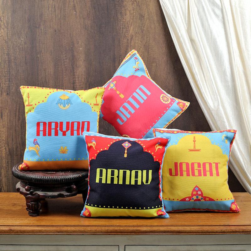 Custom Diwali Cushion