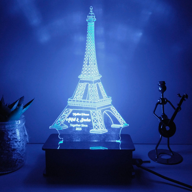 Custom Eiffel Tower Led Lamp