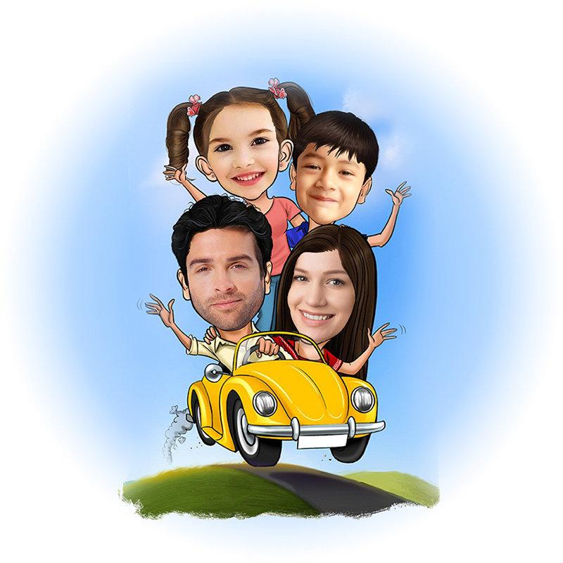 Customised Family Caricature