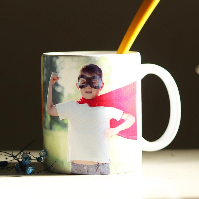 Custom Photo Superhero Mug