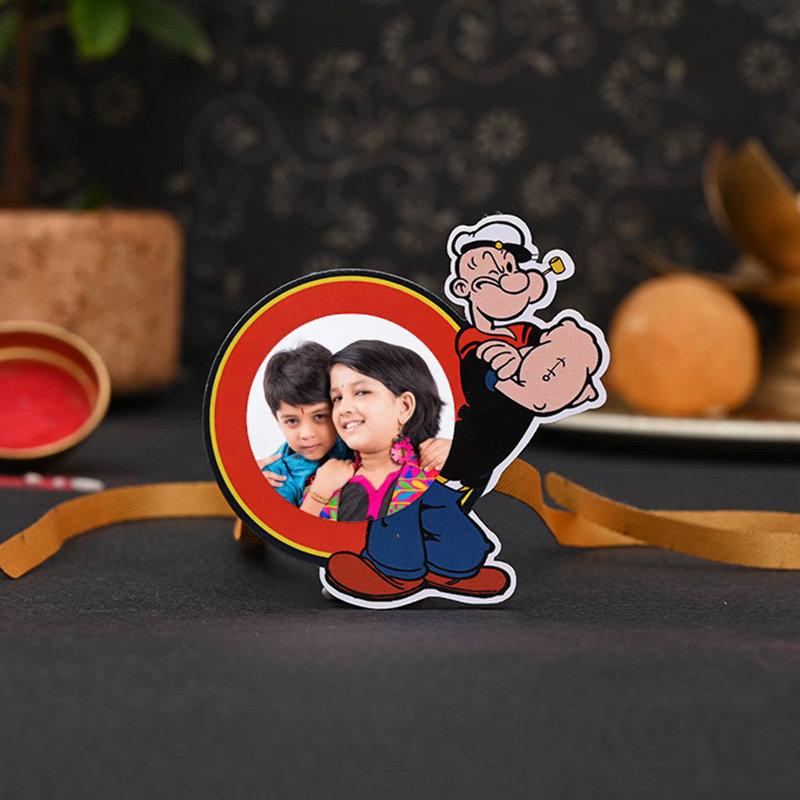Custom Popeye Rakhi - One Personalised Rakhi