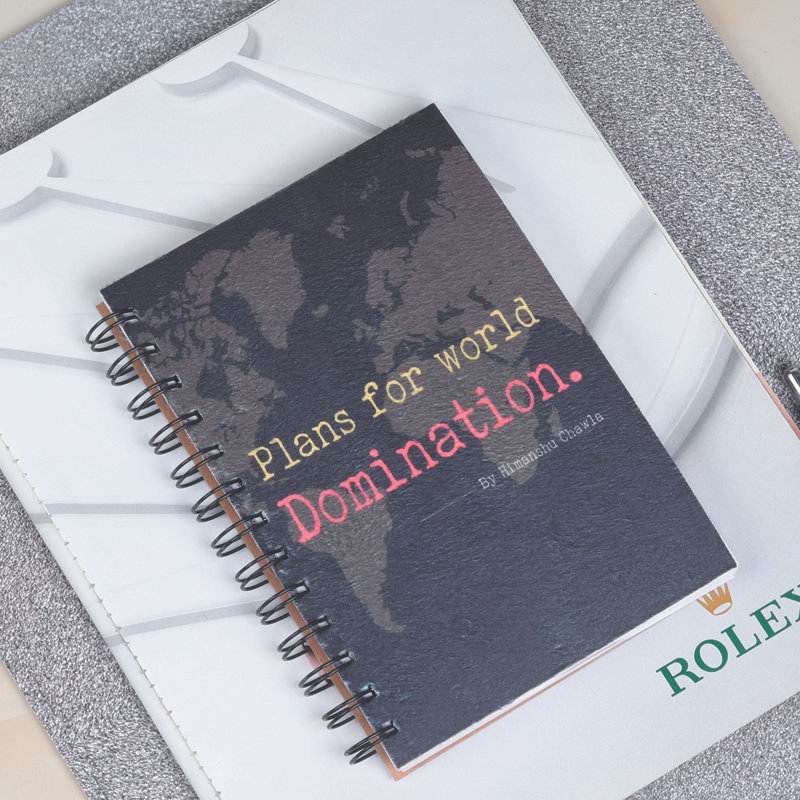 Custom Wirebound Notebook