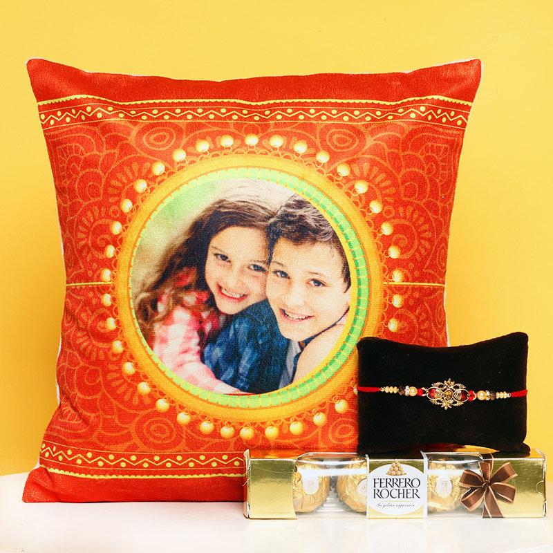 Customised Cushion Rakhi