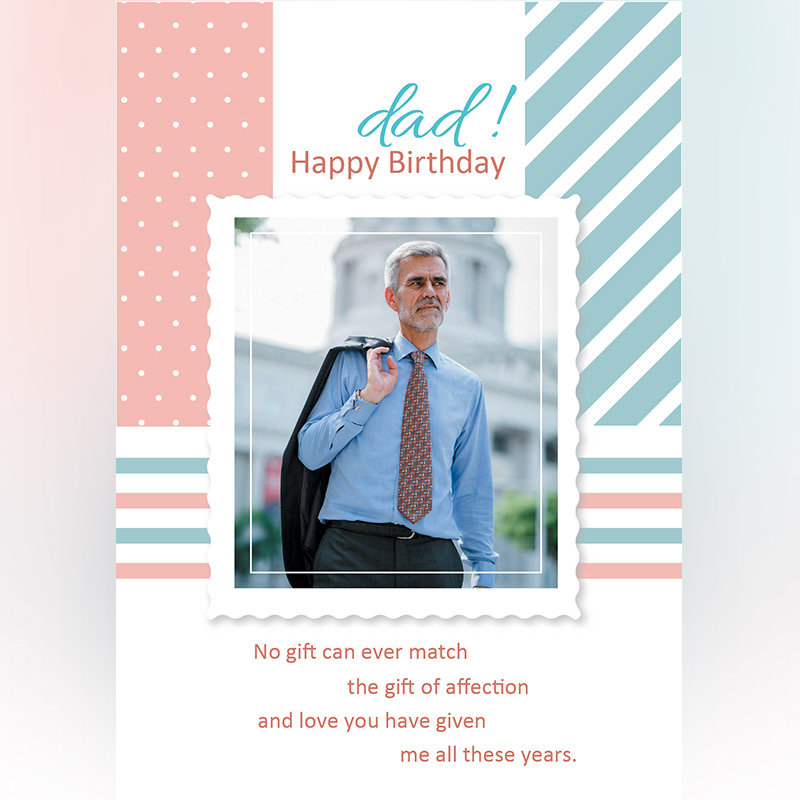 Customised E-Cards For Dad's Birthday