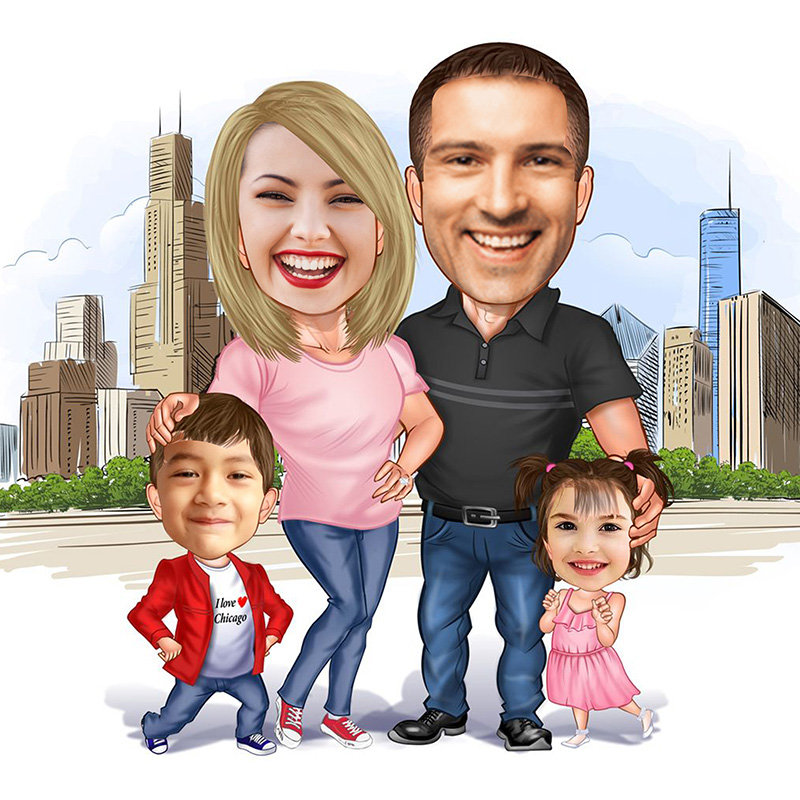 Customised Fathers Day Caricature