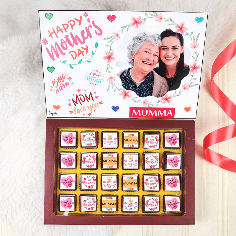 Customised Mothers Day Chocolates and 25 pieces of Premium Personalised chocolates