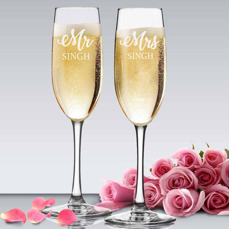 Personalised Champagne Glass Gifts