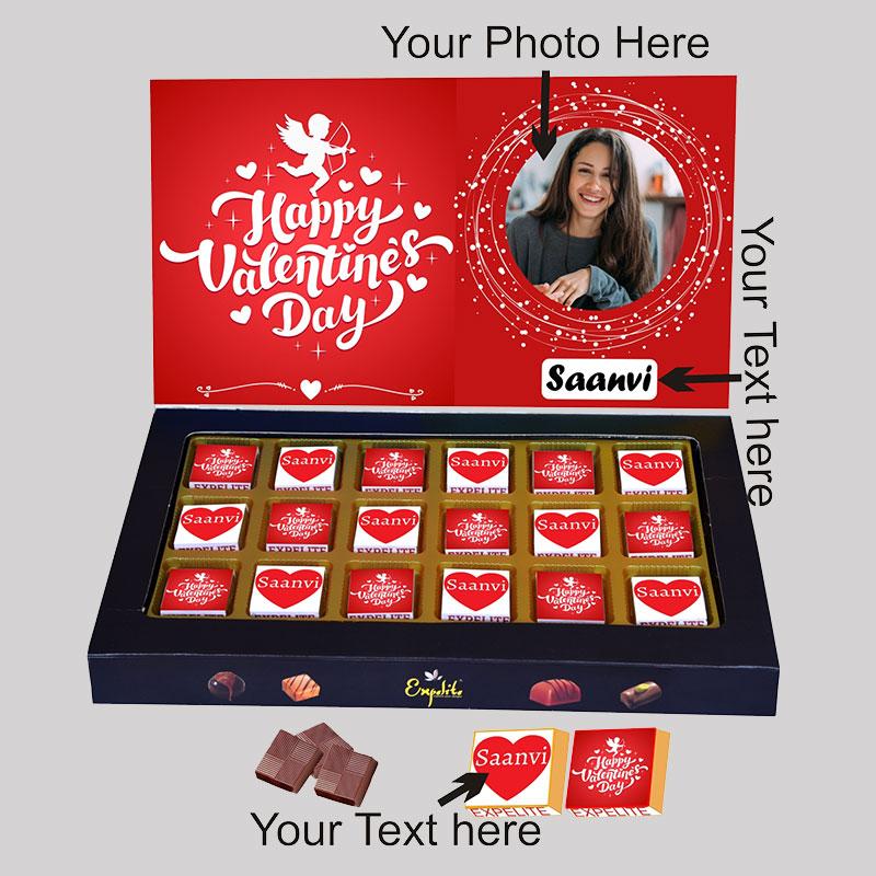 Customised Vday Chocolate Box